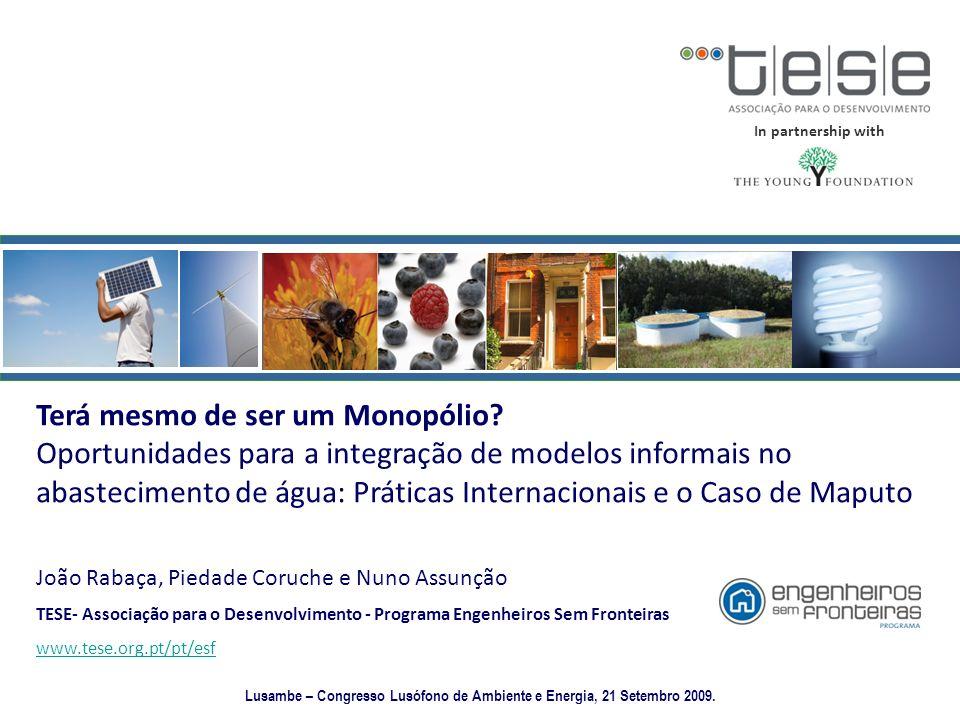 Lusambe – Congresso Lusófono de Ambiente e Energia, 21 Setembro 2009.