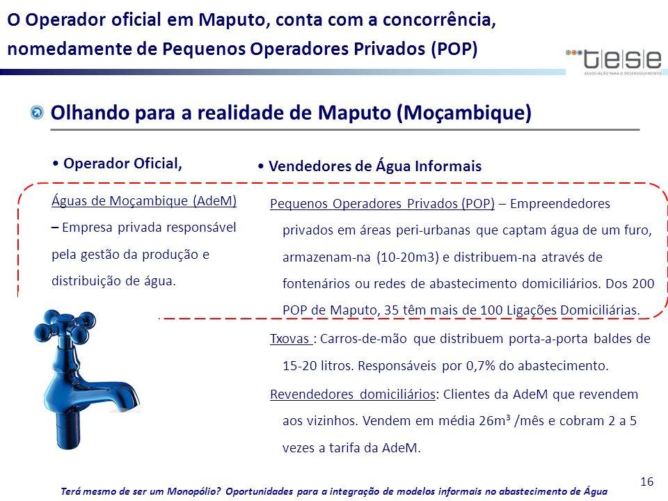 Olhando para a realidade de Maputo (Moçambique)