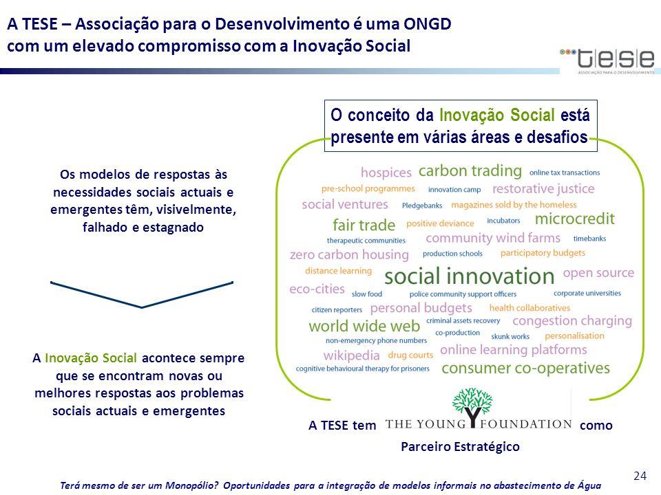 O conceito da Inovação Social está presente em várias áreas e desafios