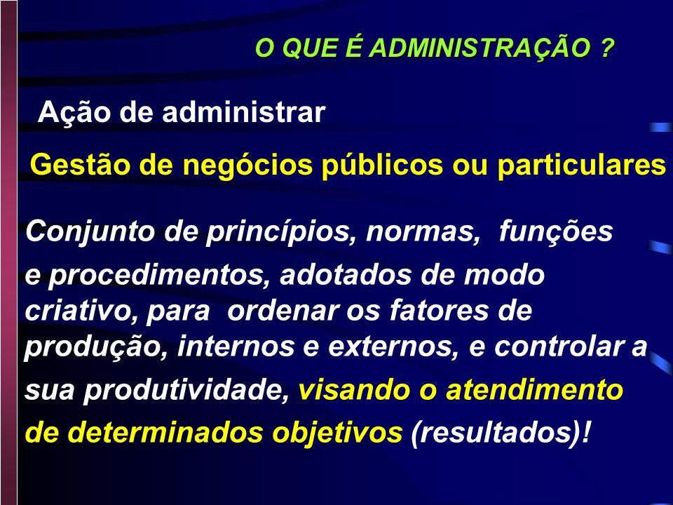 Gestão de negócios públicos ou particulares