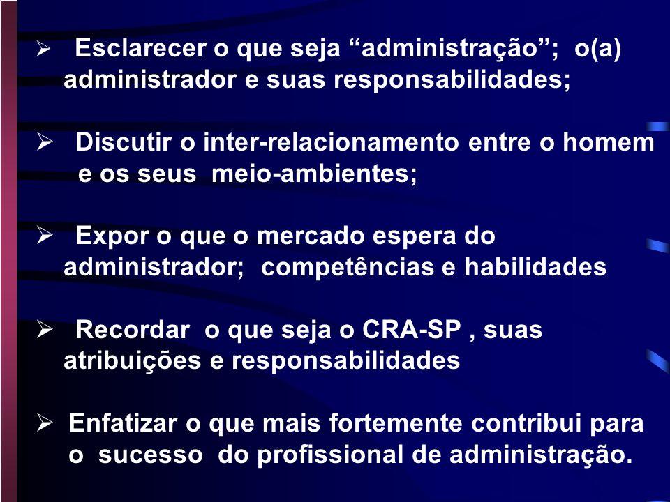 administrador e suas responsabilidades;