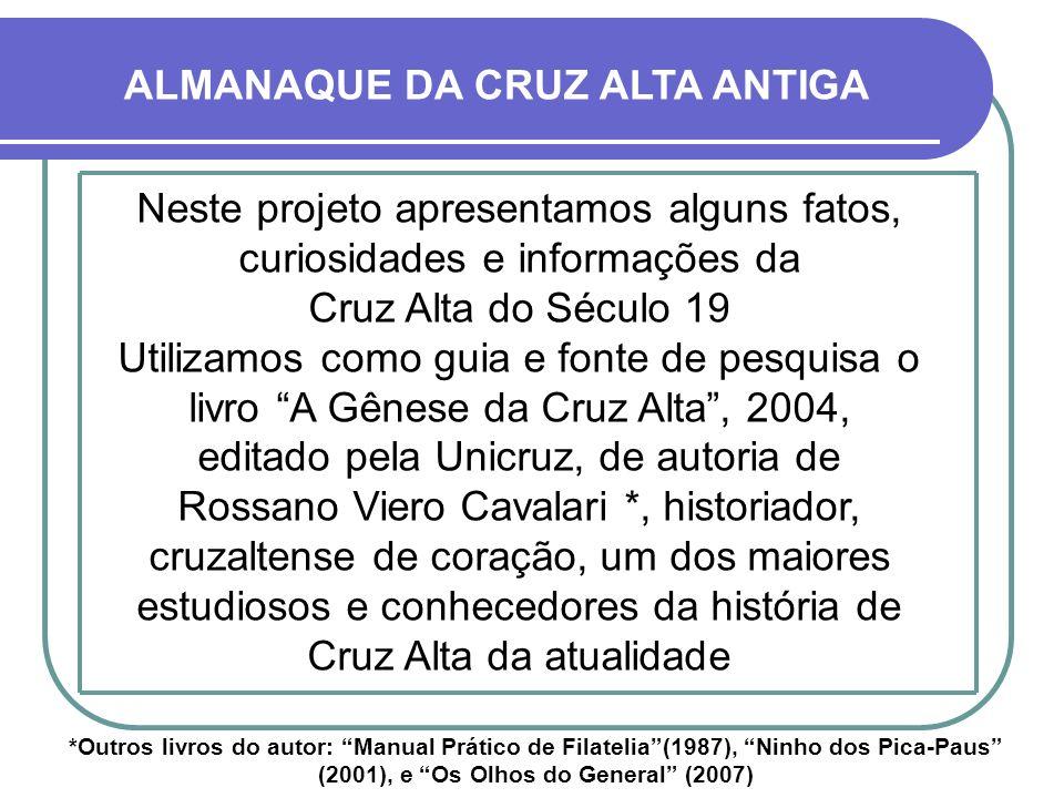 ALMANAQUE DA CRUZ ALTA ANTIGA