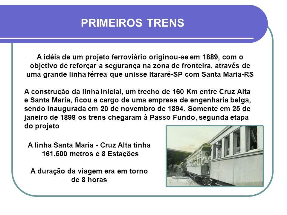 PRIMEIROS TRENS
