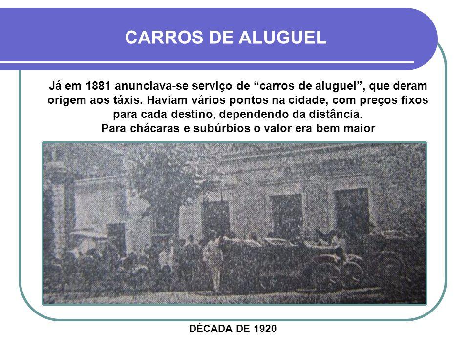 CARROS DE ALUGUEL