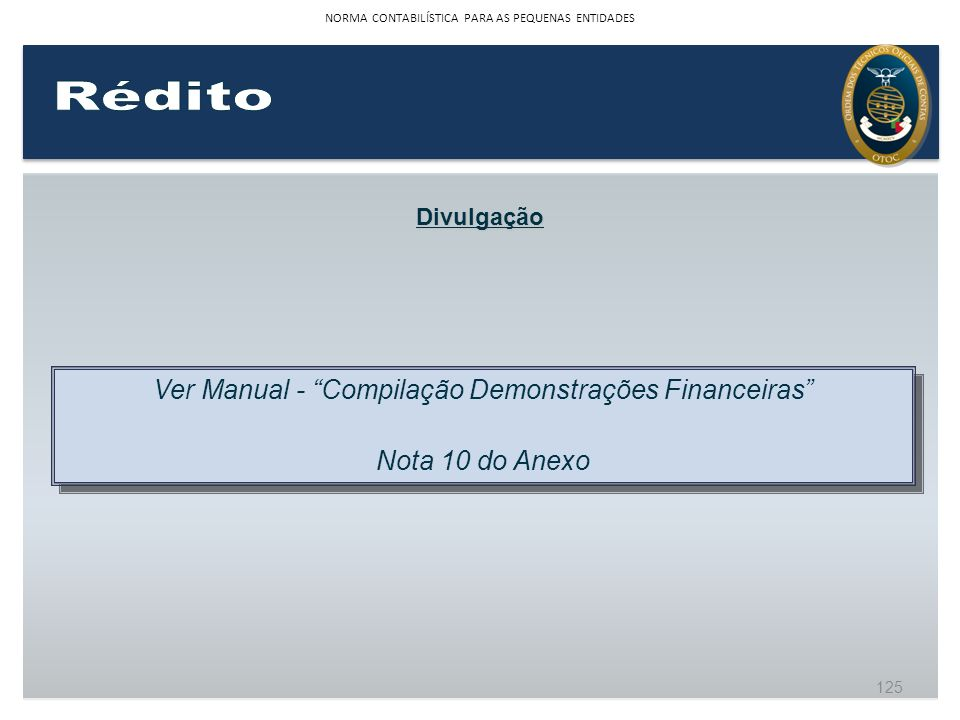 Rédito Ver Manual - Compilação Demonstrações Financeiras