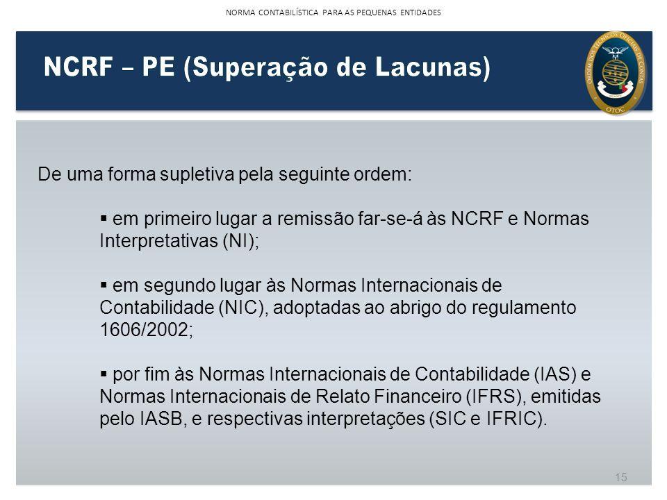 NCRF – PE (Superação de Lacunas)