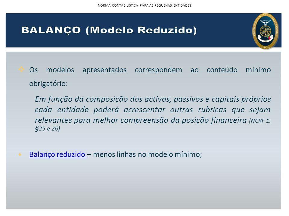 BALANÇO (Modelo Reduzido)