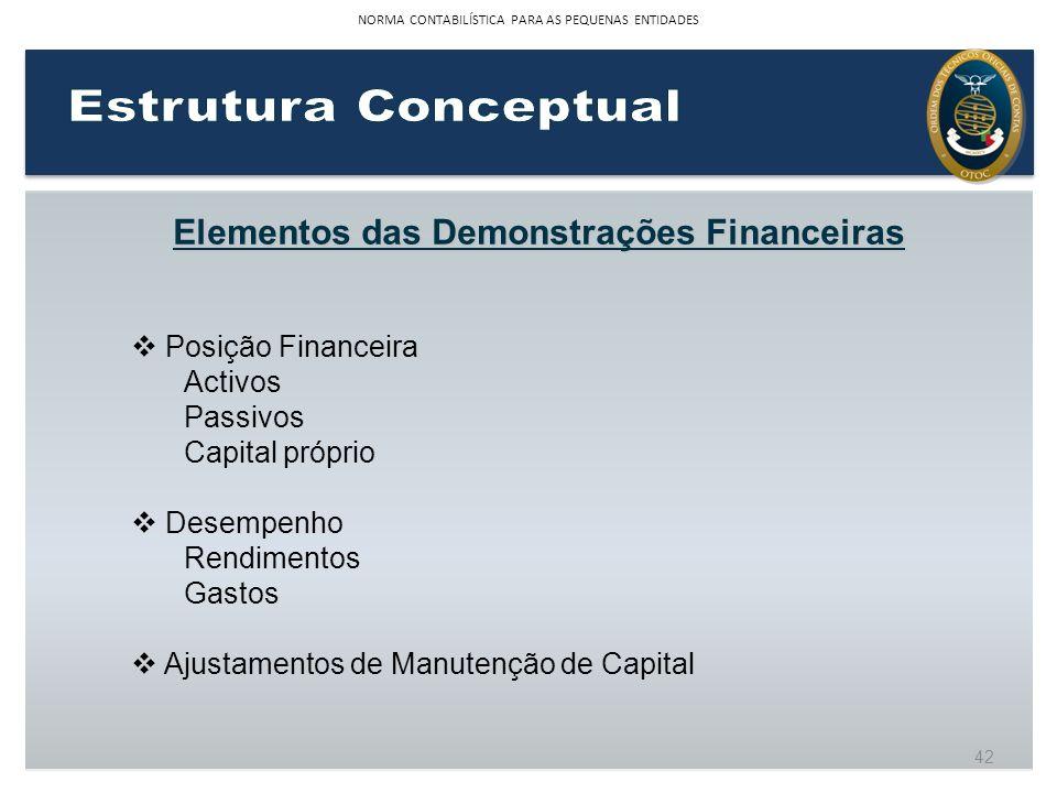 Elementos das Demonstrações Financeiras