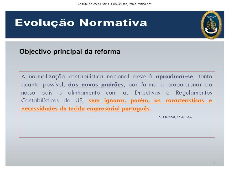 NORMA CONTABILÍSTICA PARA AS PEQUENAS ENTIDADES