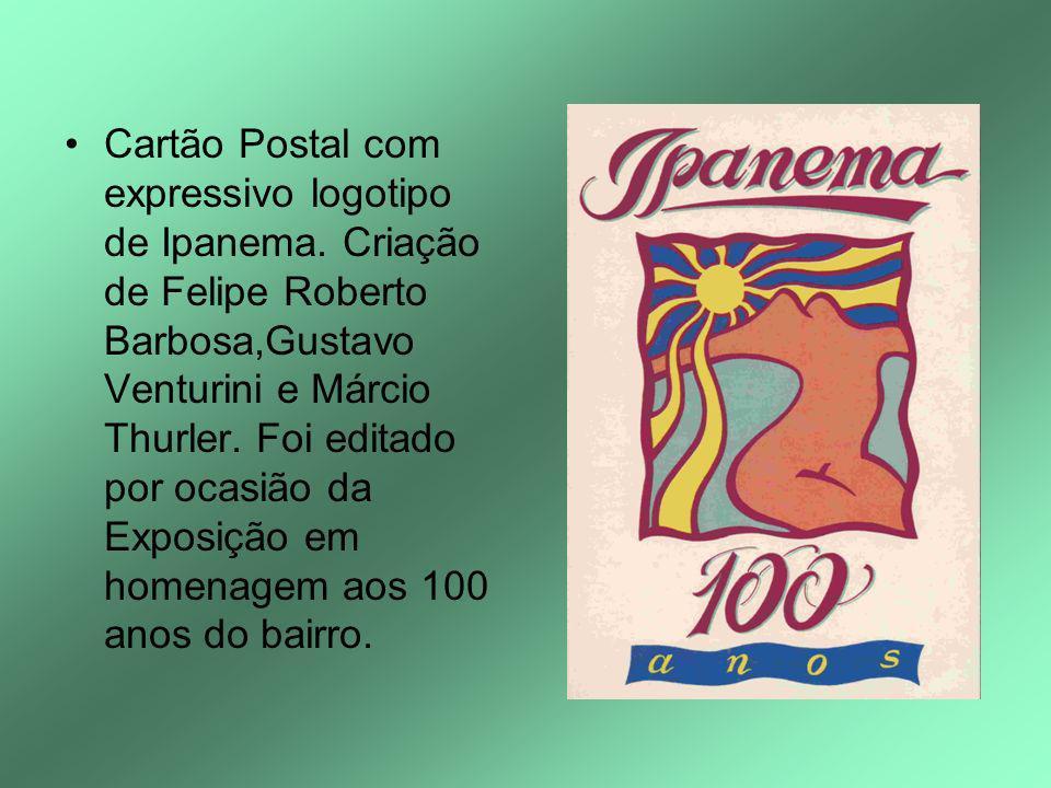 Cartão Postal com expressivo logotipo de Ipanema