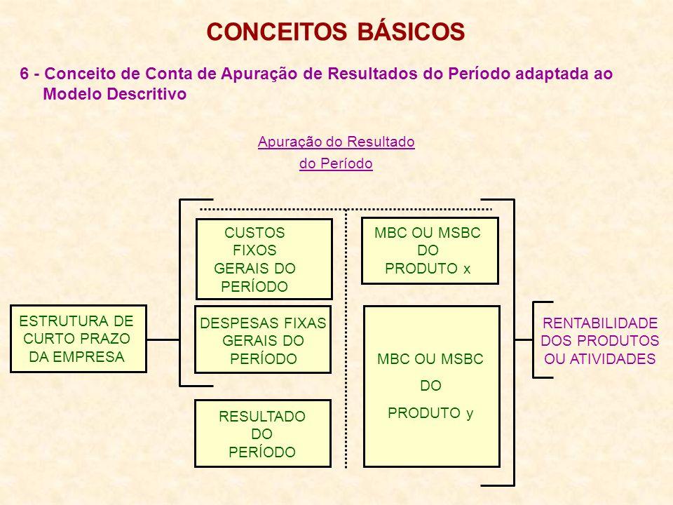 CONCEITOS BÁSICOS 6 - Conceito de Conta de Apuração de Resultados do Período adaptada ao. Modelo Descritivo.