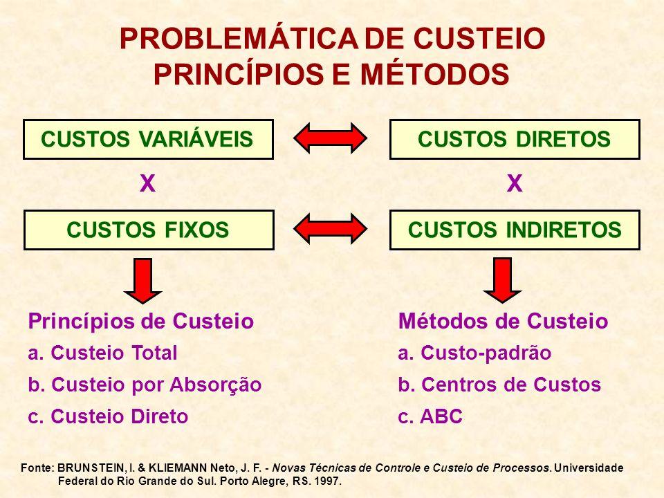PROBLEMÁTICA DE CUSTEIO