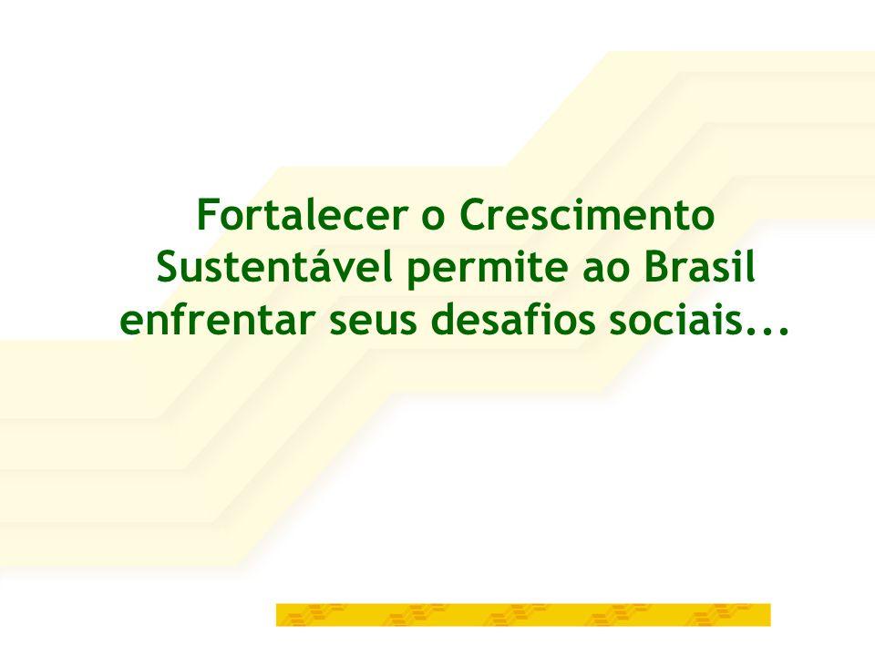 Fortalecer o Crescimento Sustentável permite ao Brasil enfrentar seus desafios sociais...