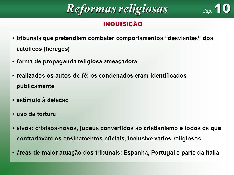 Reformas religiosas INQUISIÇÃO