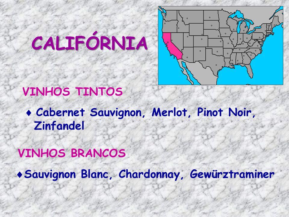 CALIFÓRNIA VINHOS TINTOS Cabernet Sauvignon, Merlot, Pinot Noir,