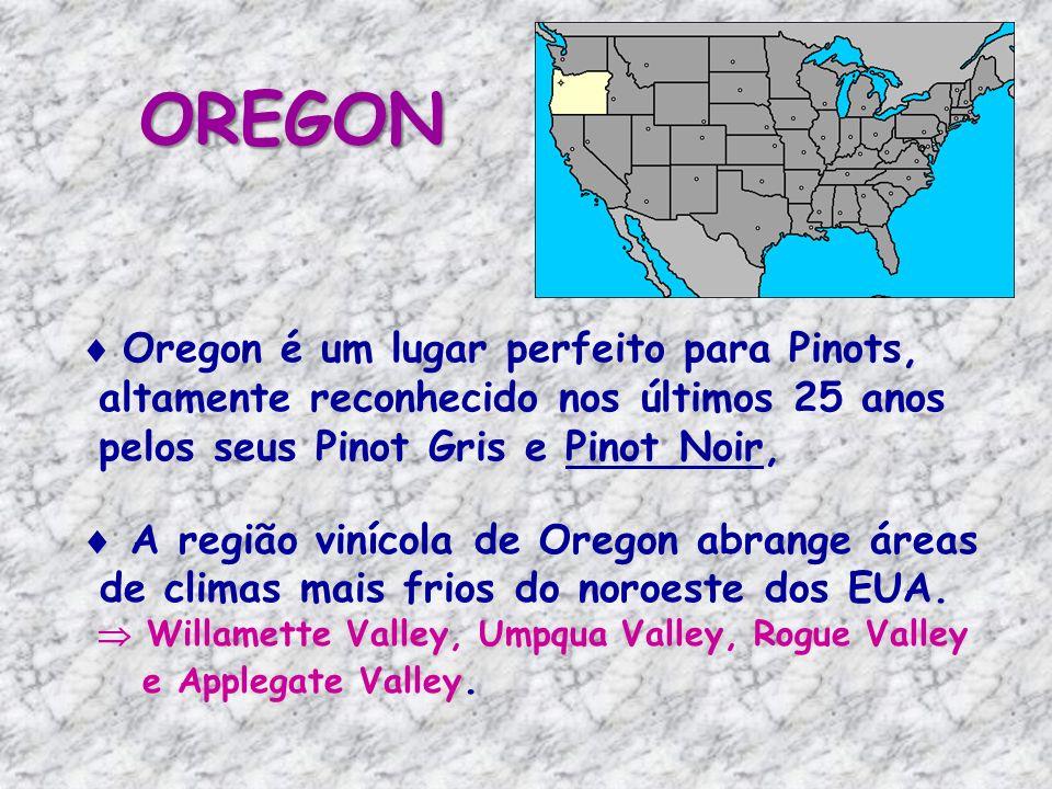 OREGON Oregon é um lugar perfeito para Pinots,