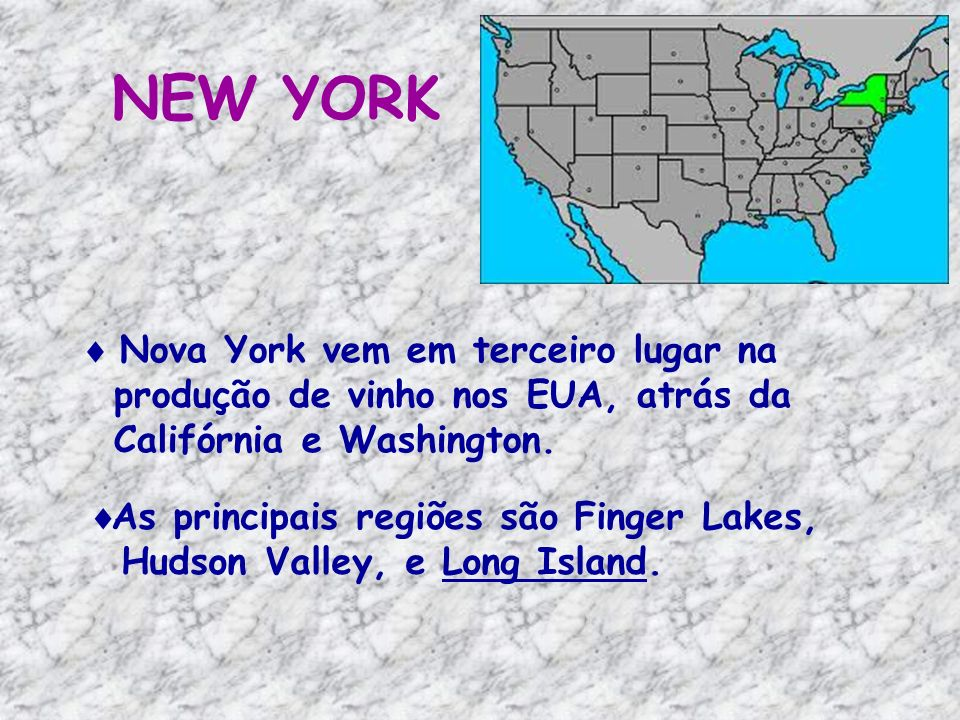 NEW YORK Nova York vem em terceiro lugar na