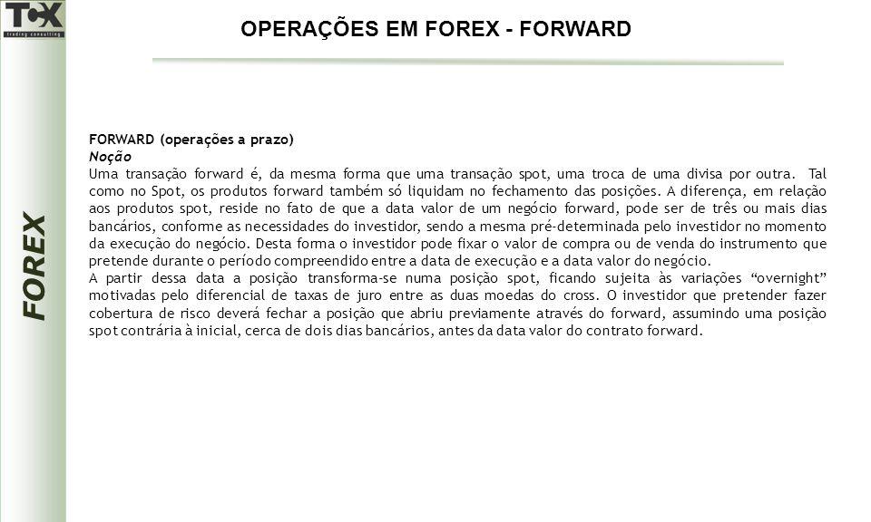 OPERAÇÕES EM FOREX - FORWARD