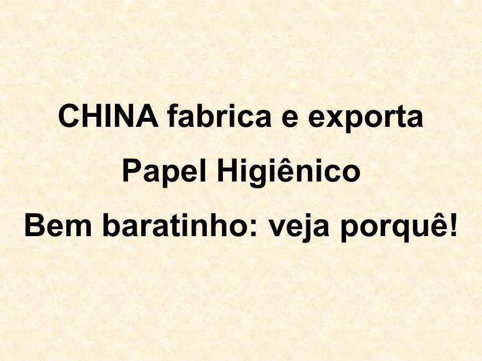 CHINA fabrica e exporta Bem baratinho: veja porquê!