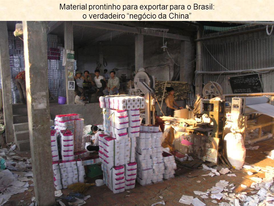 Material prontinho para exportar para o Brasil: