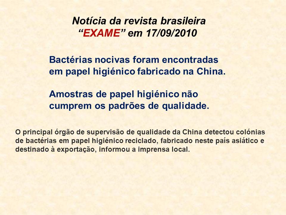 Notícia da revista brasileira EXAME em 17/09/2010