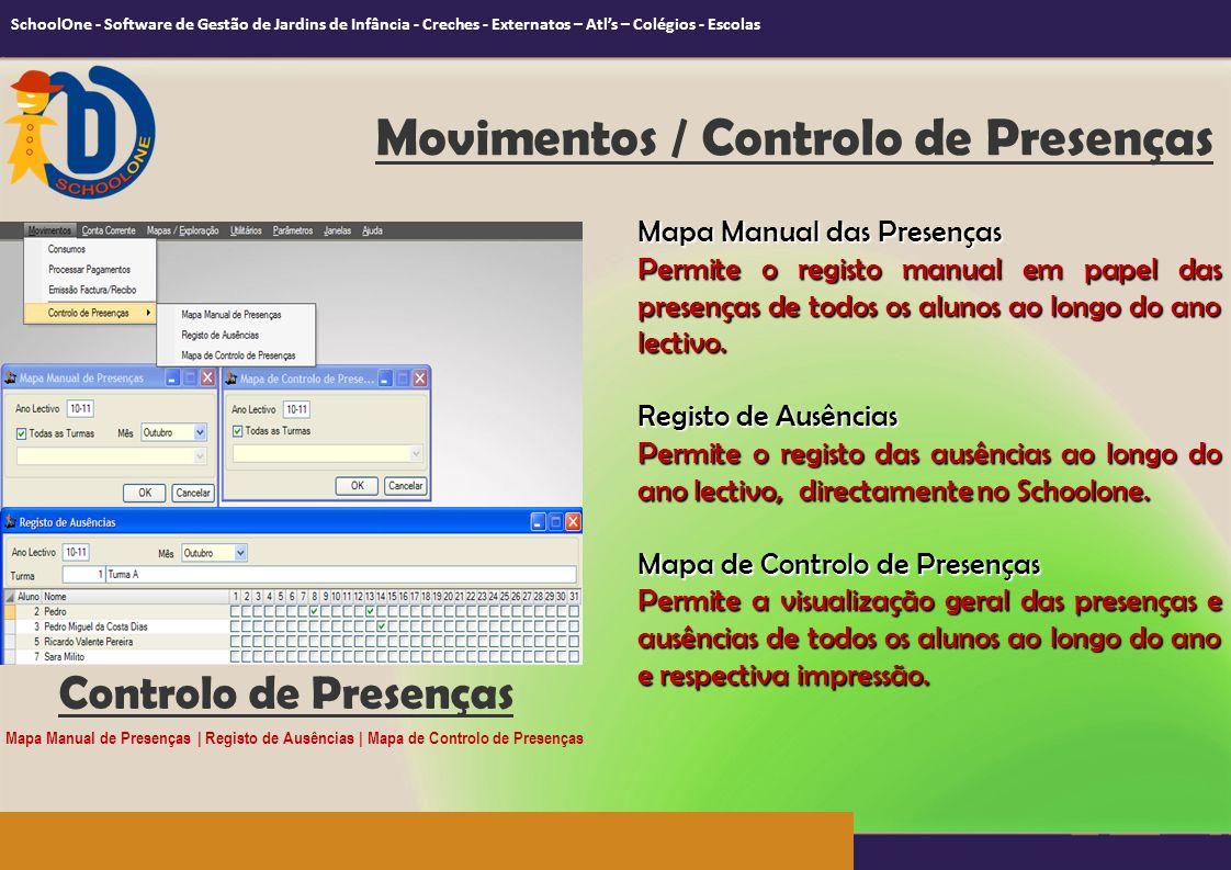 Movimentos / Controlo de Presenças