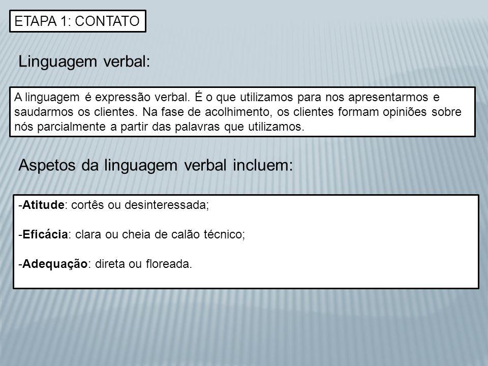 Aspetos da linguagem verbal incluem: