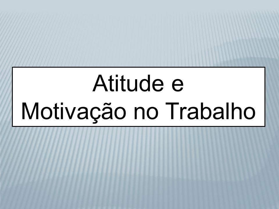 Atitude e Motivação no Trabalho