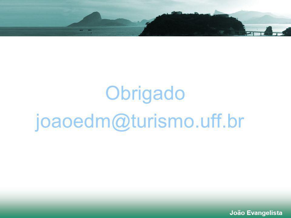 joaoedm@turismo.uff.br Obrigado João Evangelista João Evangelista
