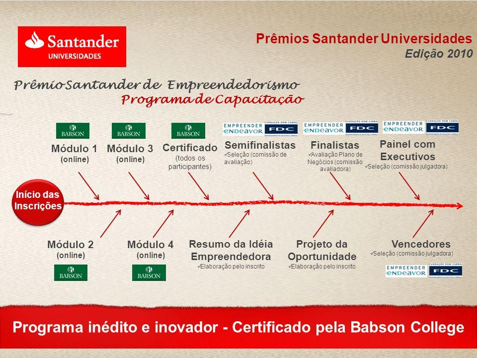 Programa inédito e inovador - Certificado pela Babson College