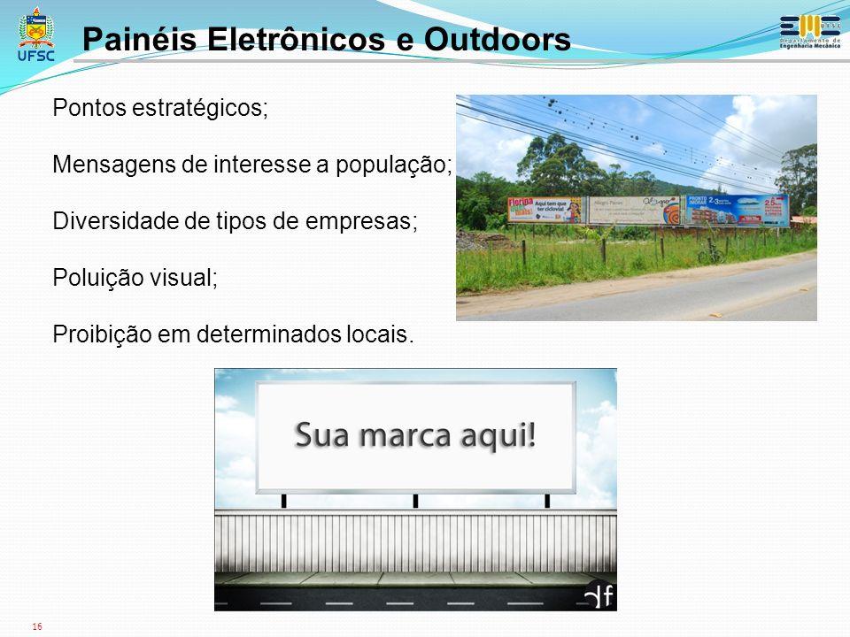Painéis Eletrônicos e Outdoors