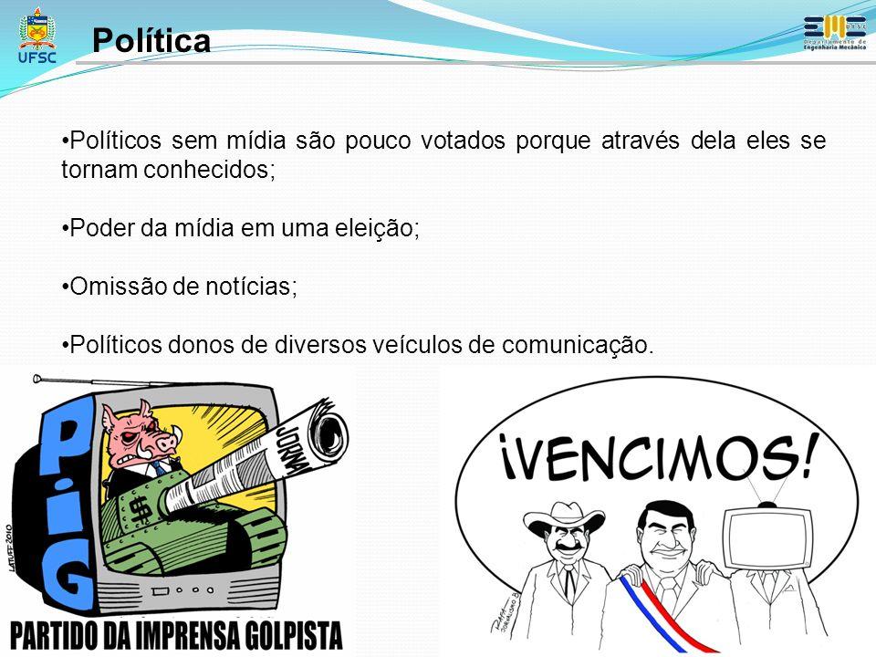 Política Políticos sem mídia são pouco votados porque através dela eles se tornam conhecidos; Poder da mídia em uma eleição;