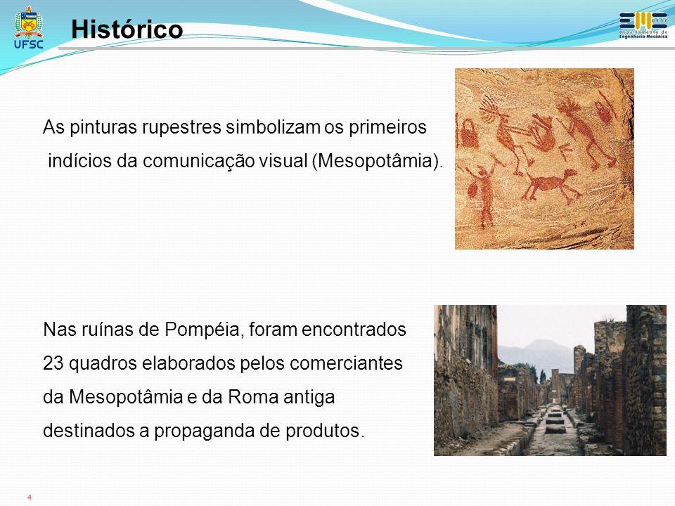 Histórico As pinturas rupestres simbolizam os primeiros
