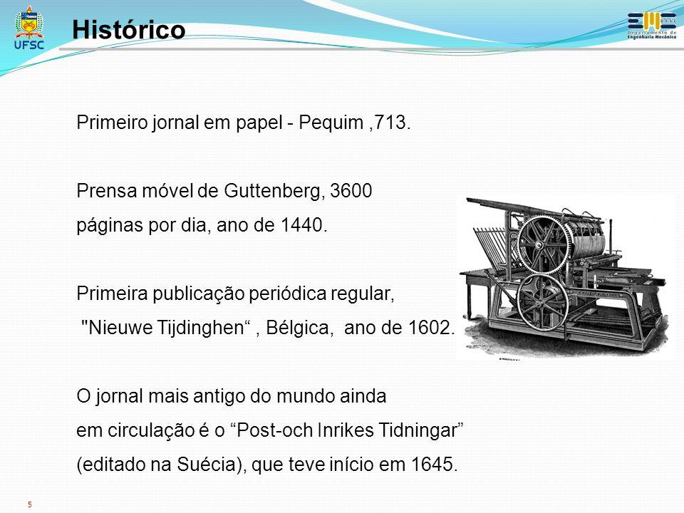 Histórico Primeiro jornal em papel - Pequim ,713.