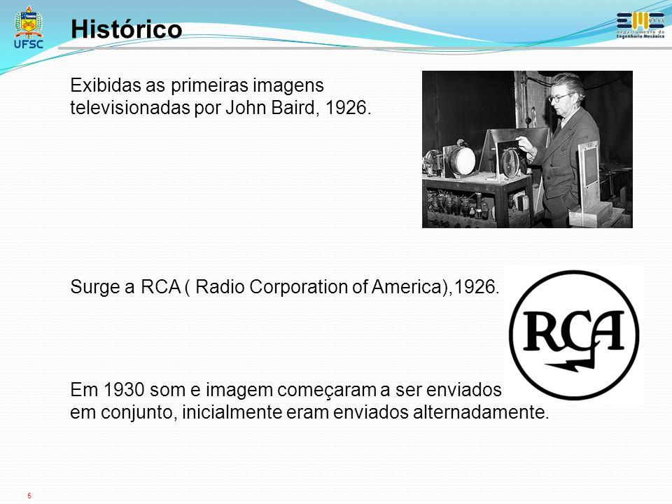Histórico Exibidas as primeiras imagens
