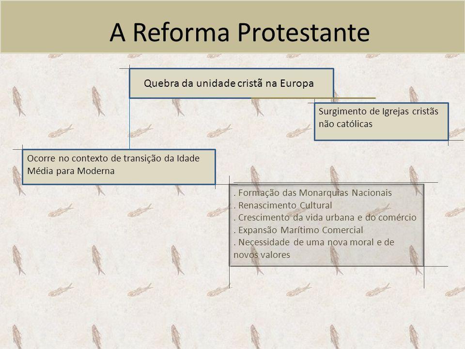 A Reforma Protestante Quebra da unidade cristã na Europa