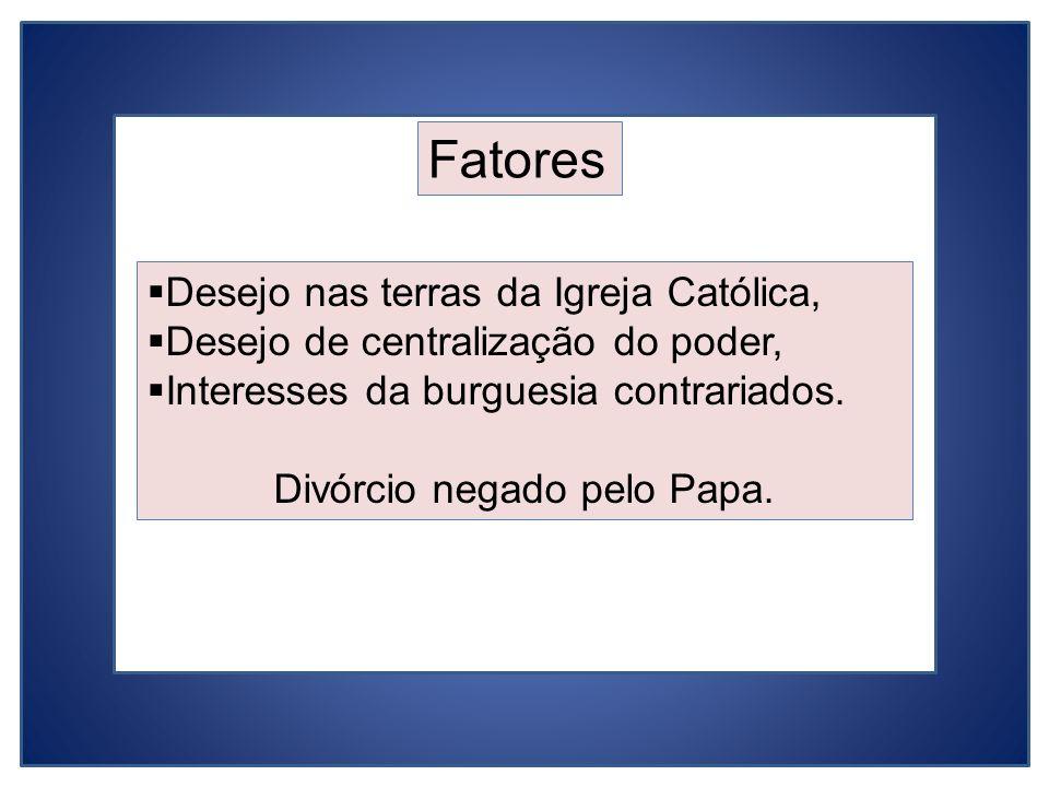 Divórcio negado pelo Papa.