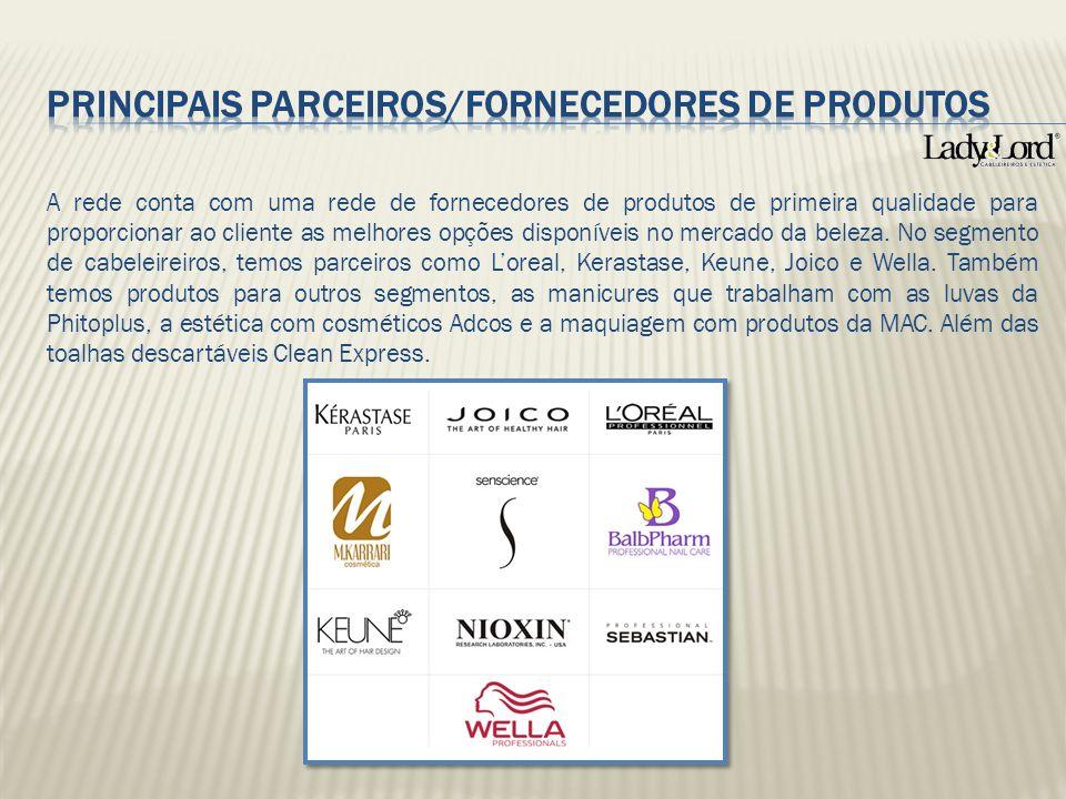 PRINCIPAIS PARCEIROS/FORNECEDORES DE PRODUTOS