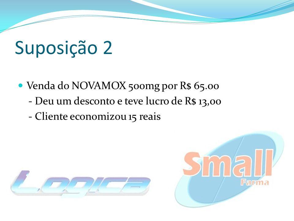 Suposição 2 Venda do NOVAMOX 500mg por R$ 65.00