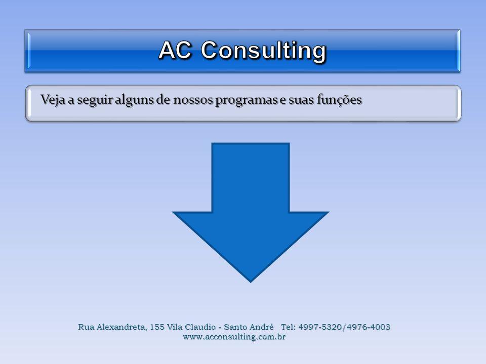 AC Consulting Veja a seguir alguns de nossos programas e suas funções