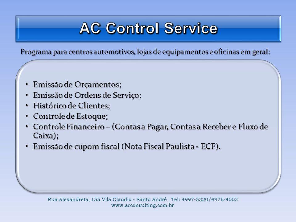 AC Control Service Emissão de Orçamentos;