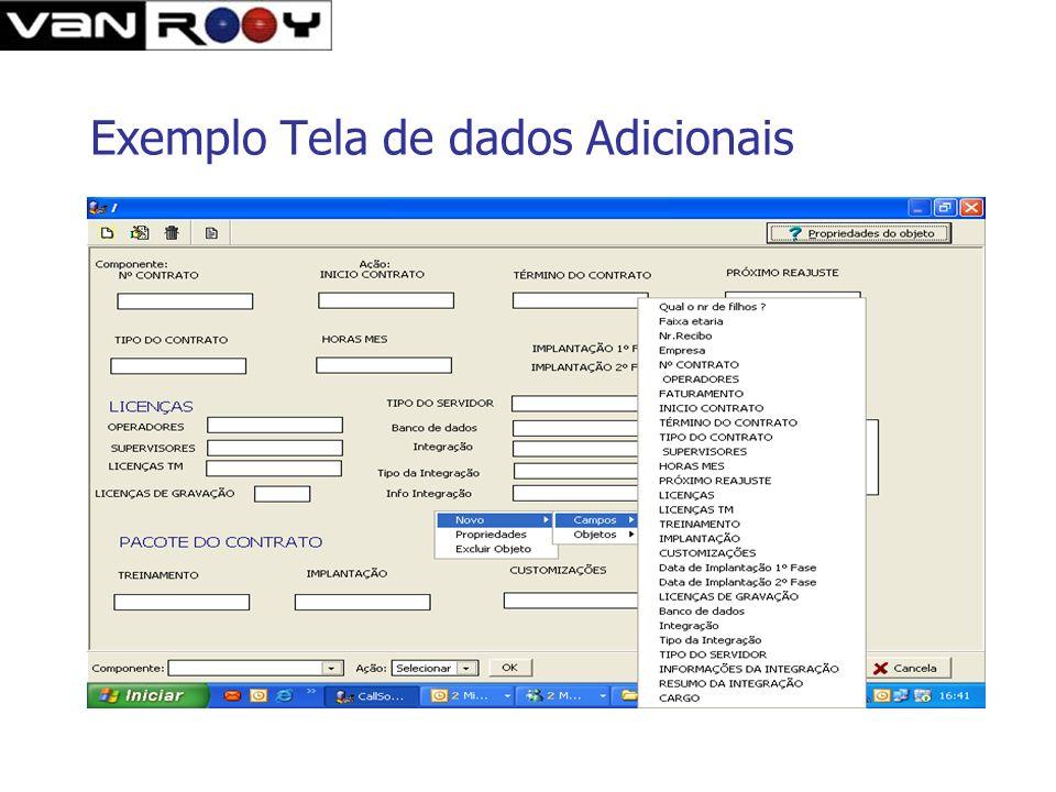 Exemplo Tela de dados Adicionais