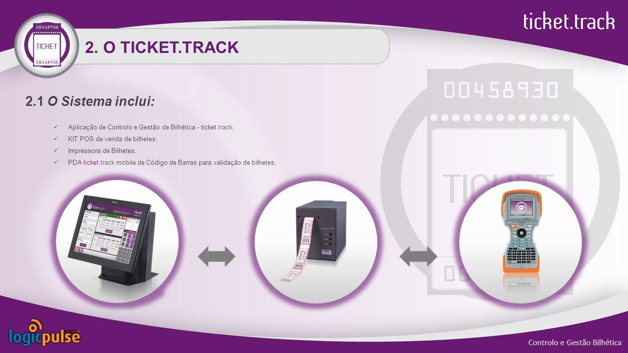 2. O TICKET.TRACK 2.1 O Sistema inclui: Controlo e Gestão Bilhética