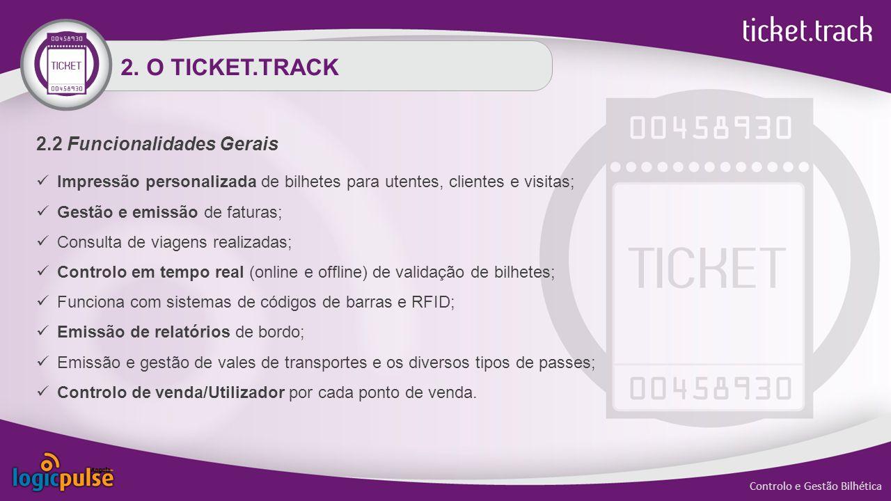 2. O TICKET.TRACK 2.2 Funcionalidades Gerais