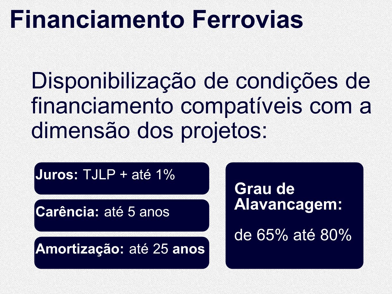 Financiamento Ferrovias