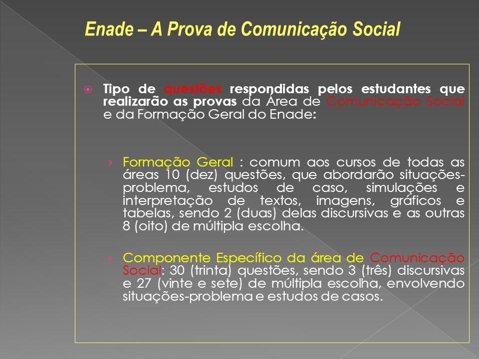 Enade – A Prova de Comunicação Social