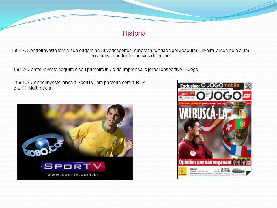 História 1984-A Controlinveste tem a sua origem na Olivedesportos, empresa fundada por Joaquim Oliveira, ainda hoje é um dos mais importantes activos do grupo