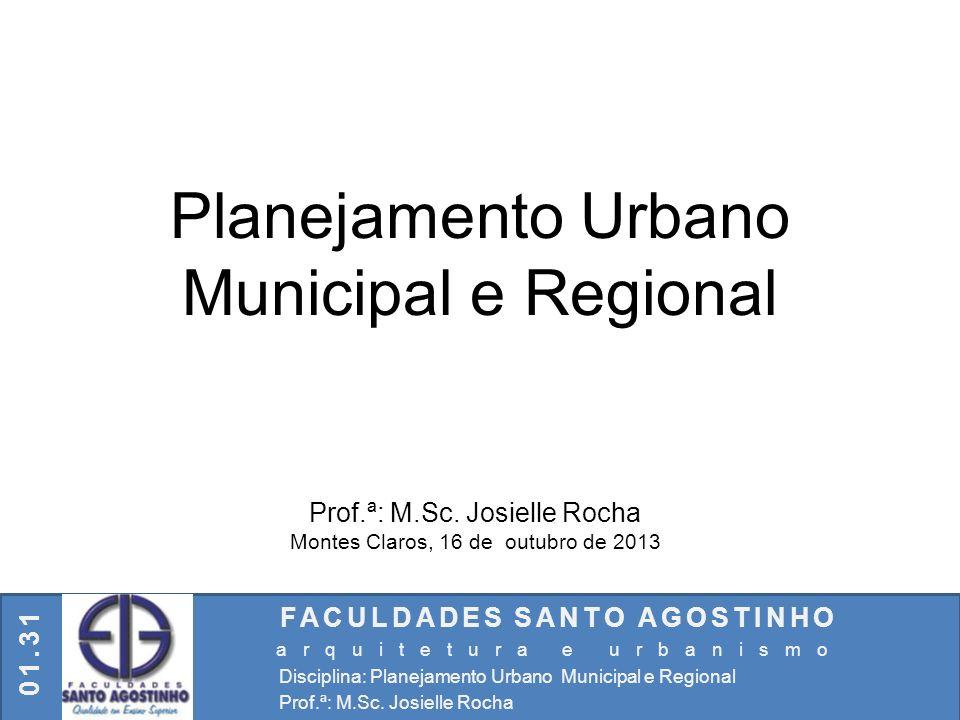 Planejamento Urbano Municipal e Regional