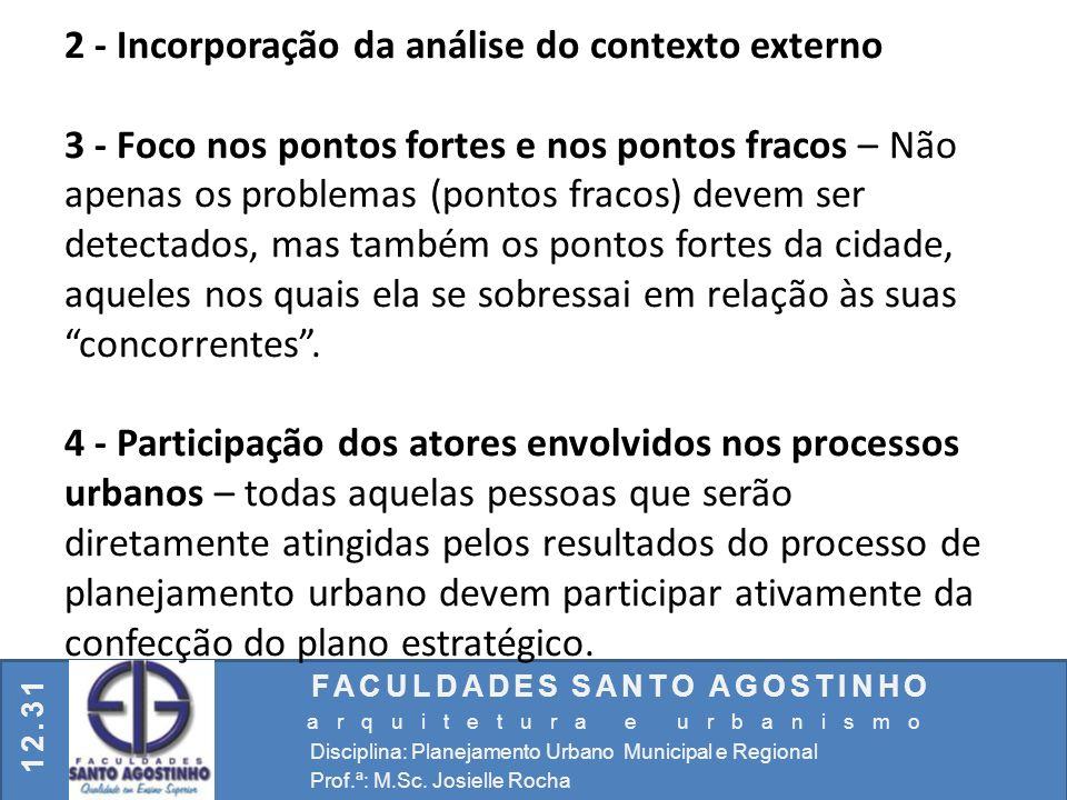 2 - Incorporação da análise do contexto externo