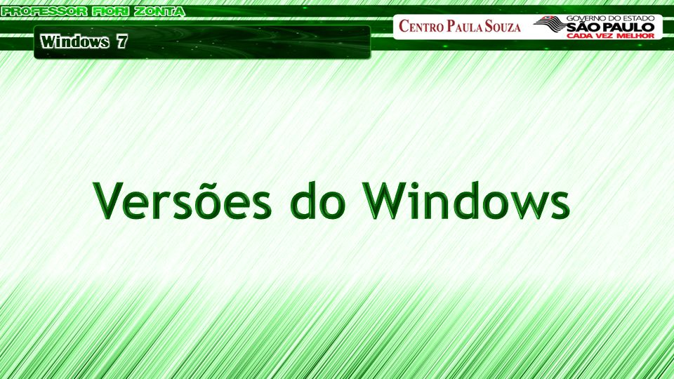 Versões do Windows
